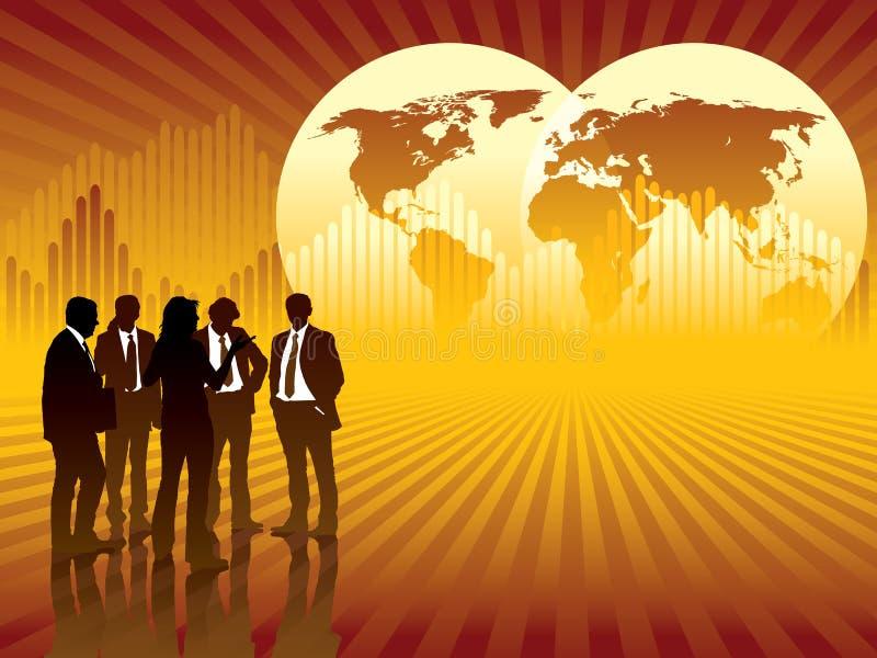 biznes globalny ilustracja wektor