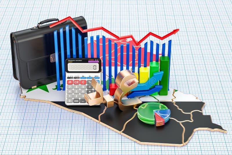 Biznes, handel i finanse w Irackim pojęciu, 3D rendering ilustracja wektor