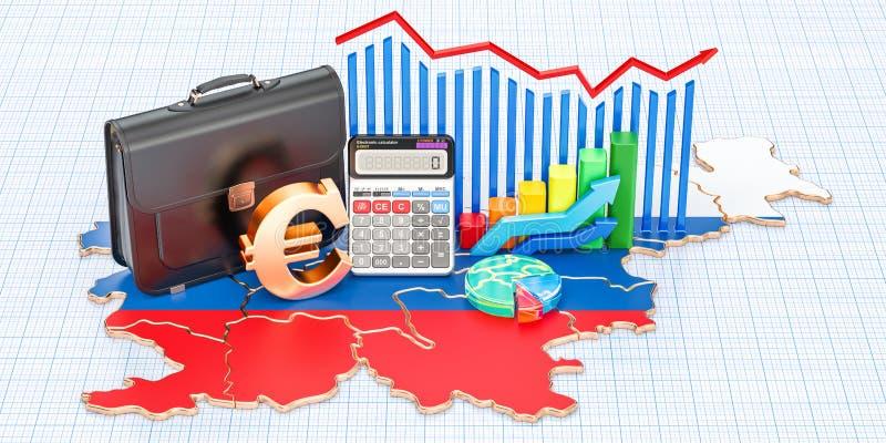 Biznes, handel i finanse w Slovenia pojęciu, 3D rendering ilustracja wektor