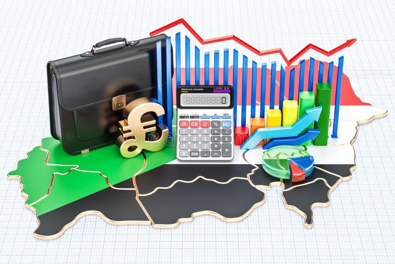 Biznes, handel i finanse w Sudan pojęciu, 3D rendering ilustracja wektor