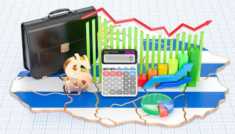 Biznes, handel i finanse w Urugwaj pojęciu, 3D rendering ilustracja wektor