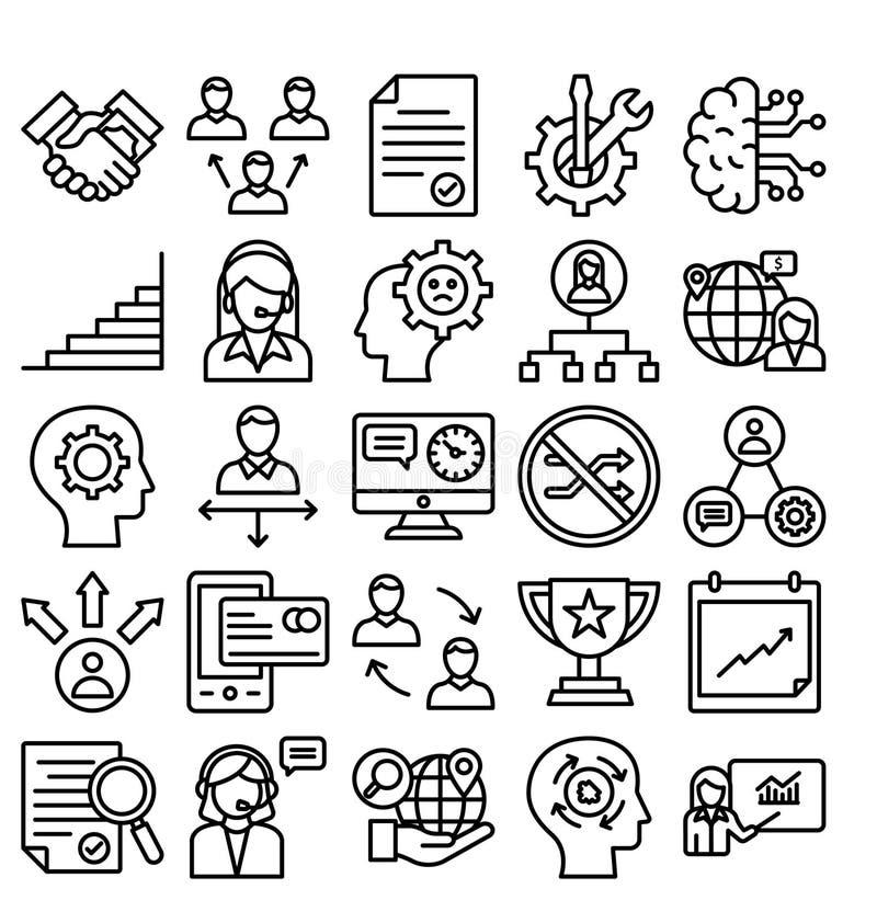 Biznes Handlowa Wektorowa ikona editable ilustracji