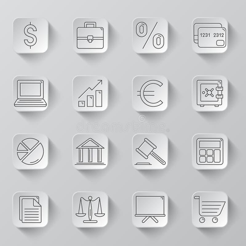 Biznes i finanse ikony royalty ilustracja