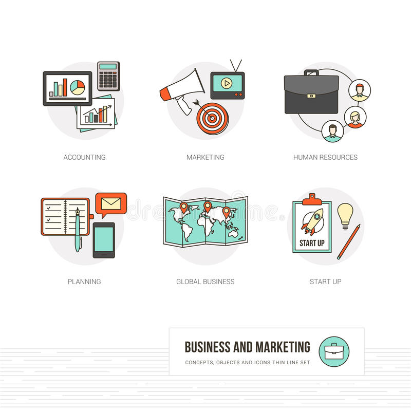 Biznes i marketing ilustracja wektor