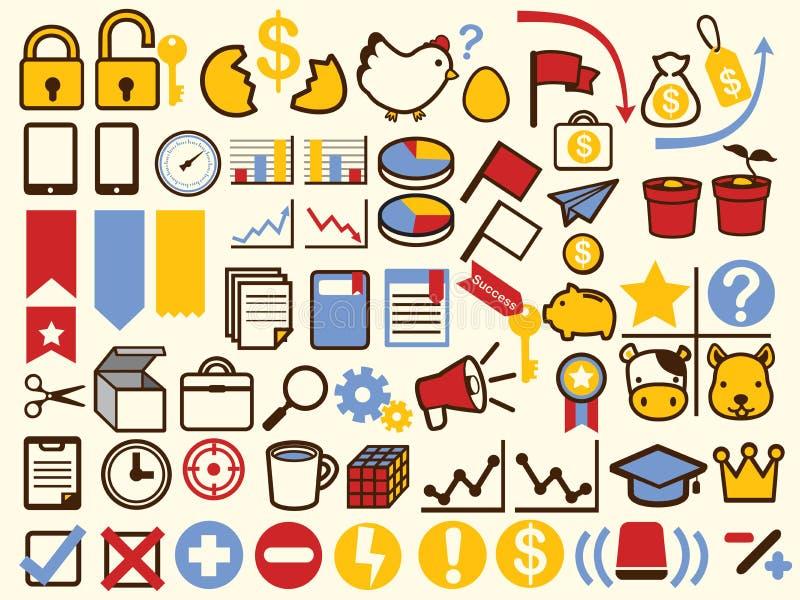 50+ biznes i Pieniężna ikona ilustracji