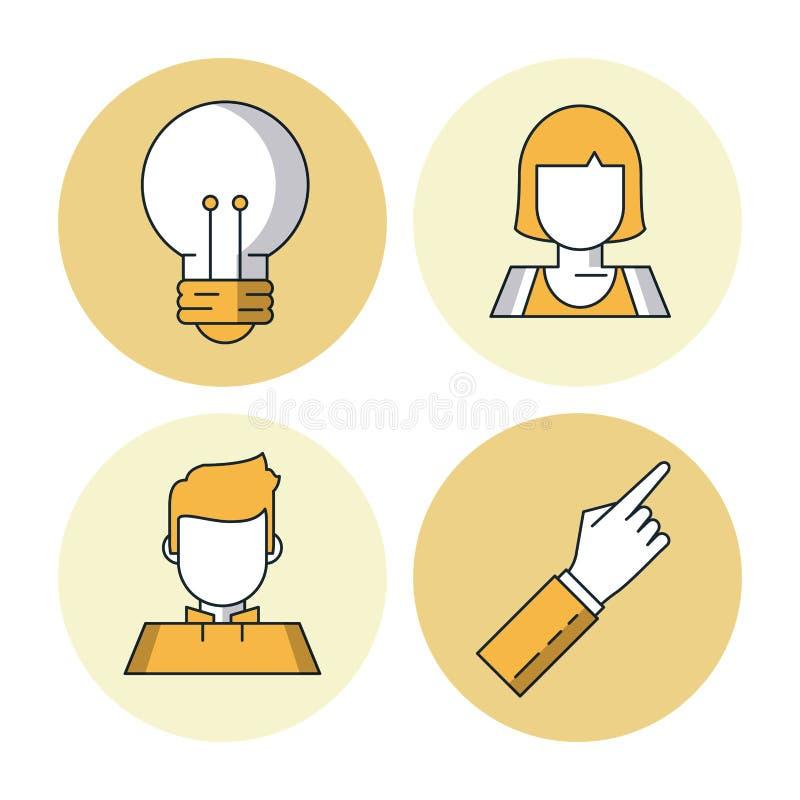 Biznes i przedsiębiorczość ilustracja wektor