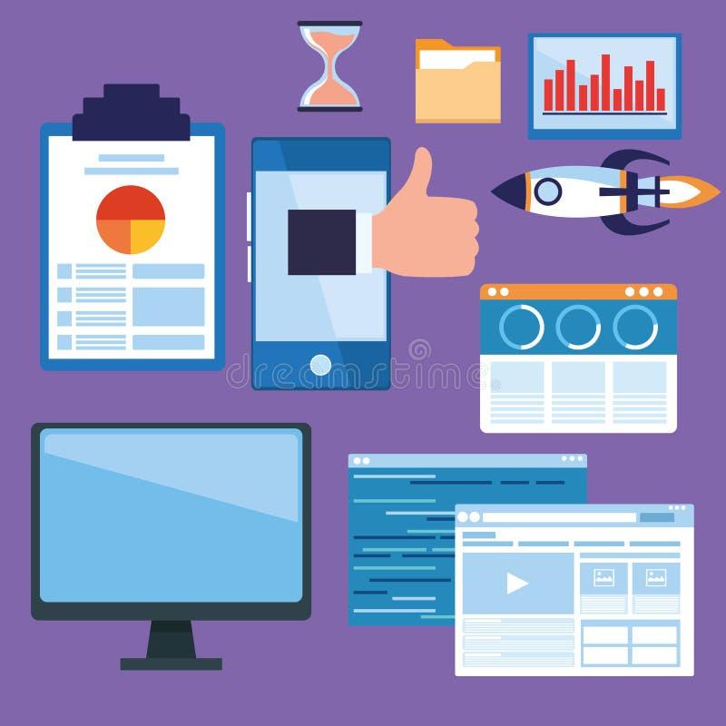 Biznes i technologia ilustracja wektor