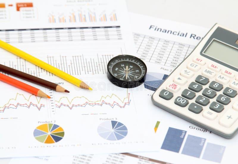 Biznes i wykres zdjęcie stock