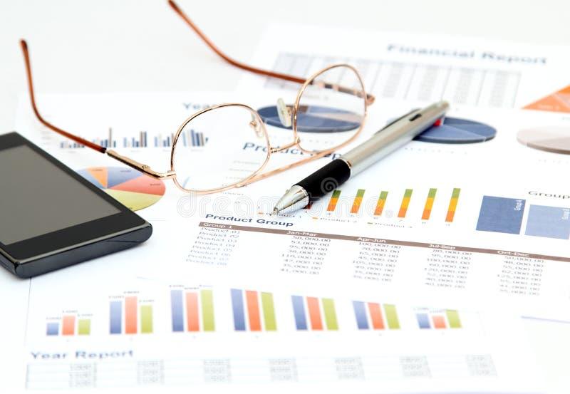 Biznes i wykres obraz stock