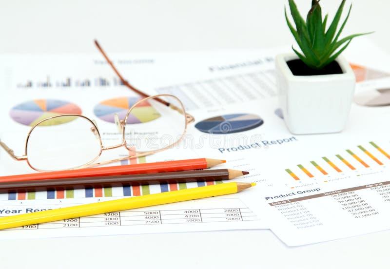 Biznes i wykres fotografia stock