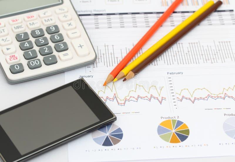 Biznes i wykres zdjęcia stock