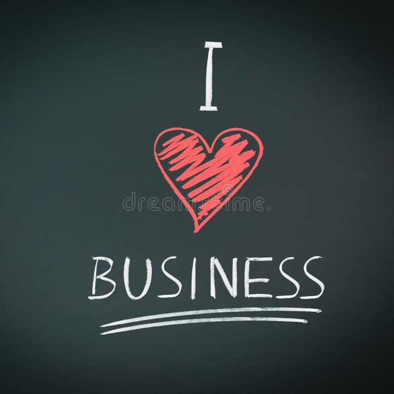 biznes ja kocham fotografia stock