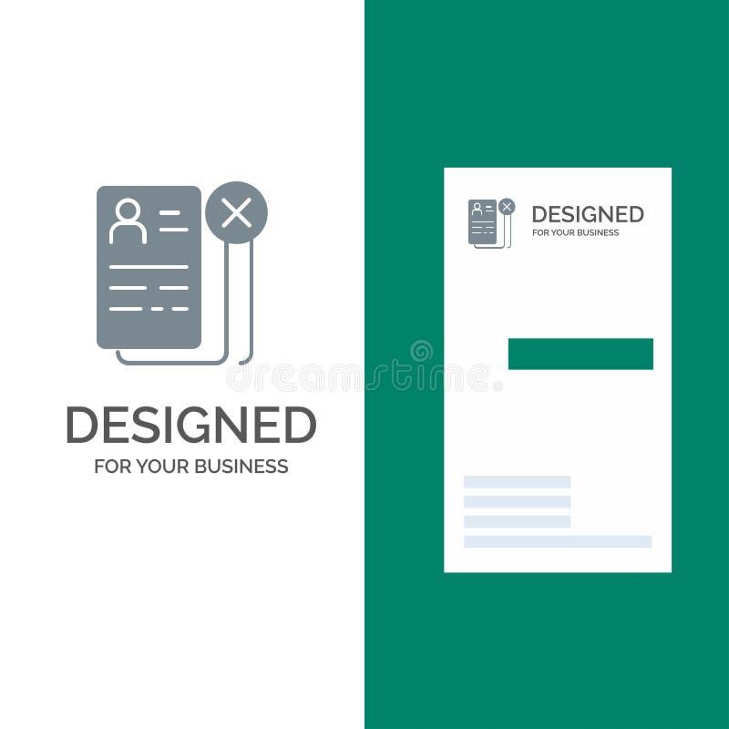 Biznes, kariera, Cv, praca, życiorysu logo Popielaty projekt i wizytówka szablon, ilustracji