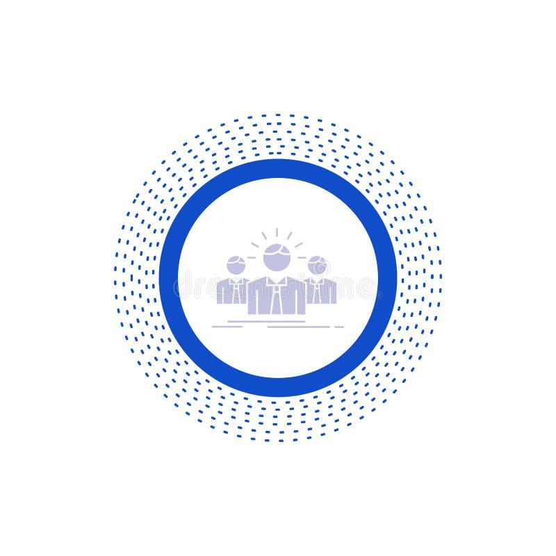 Biznes, kariera, pracownik, przedsiębiorca, lidera glifu ikona Wektor odosobniona ilustracja ilustracja wektor