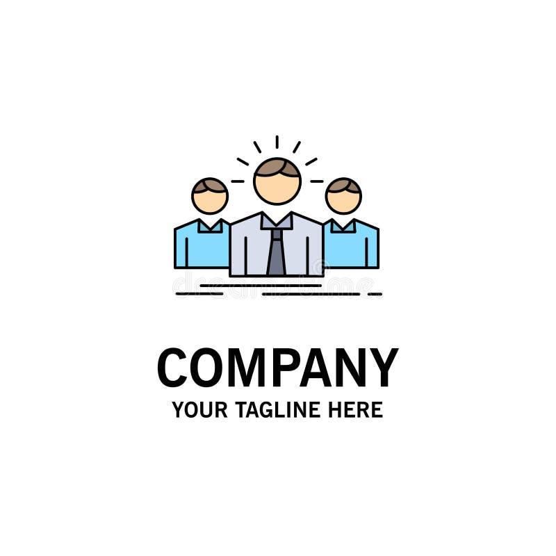 Biznes, kariera, pracownik, przedsiębiorca, lidera koloru ikony Płaski wektor ilustracji