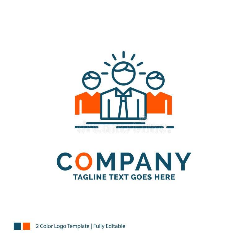 Biznes, kariera, pracownik, przedsiębiorca, lidera logo projekt Bl royalty ilustracja