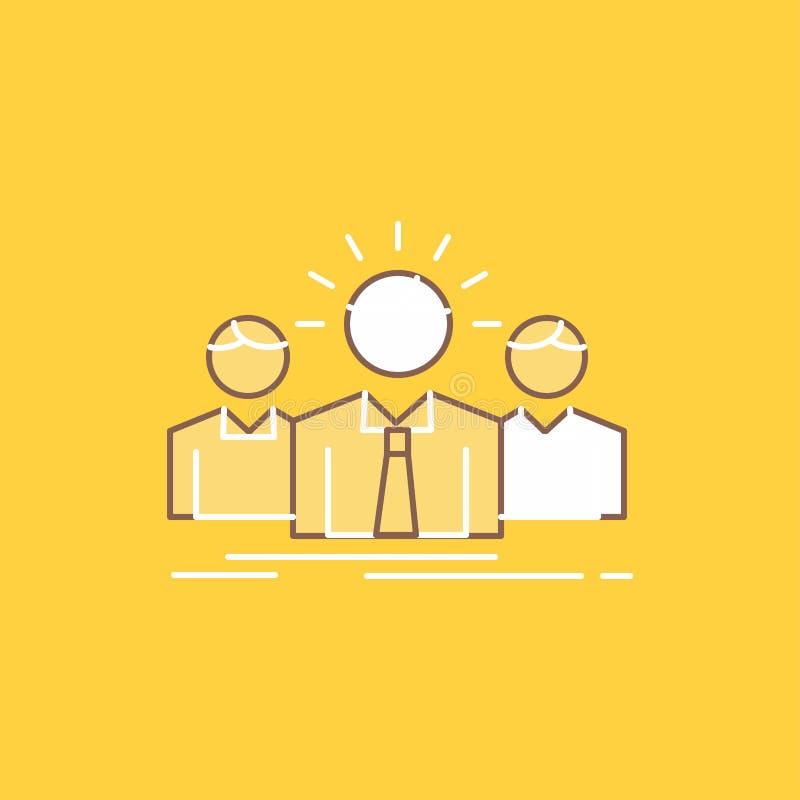 Biznes, kariera, pracownik, przedsiębiorca, lidera mieszkania linia Wypełniał ikonę Pi?kny logo guzik nad ? ilustracji