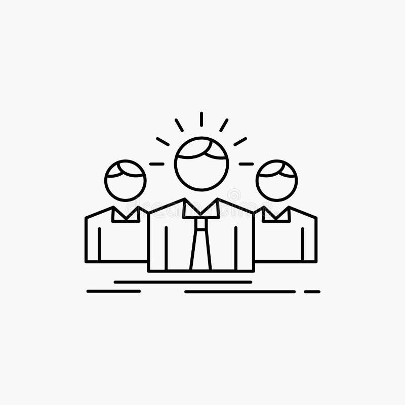 Biznes, kariera, pracownik, przedsi?biorca, lider linii ikona Wektor odosobniona ilustracja ilustracja wektor
