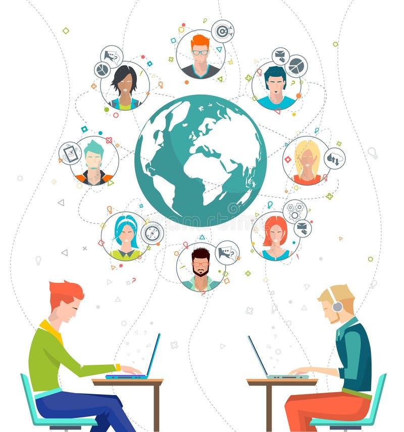 biznes koncepcję globalnego royalty ilustracja