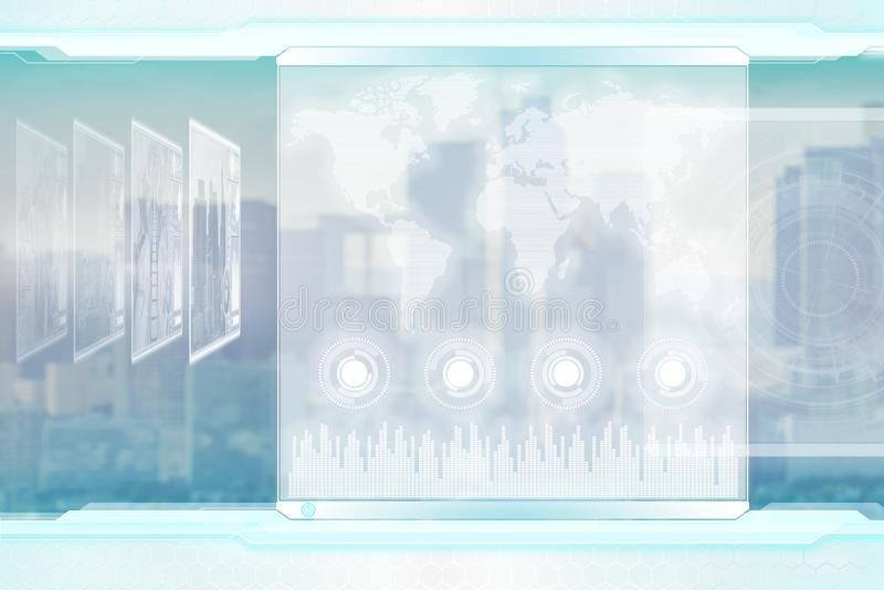 biznes koncepcję globalnego Lekki futurystyczny korporacyjny tło ilustracja wektor