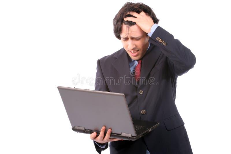biznes laptopa ludzi pracuje żałosne young zdjęcie stock