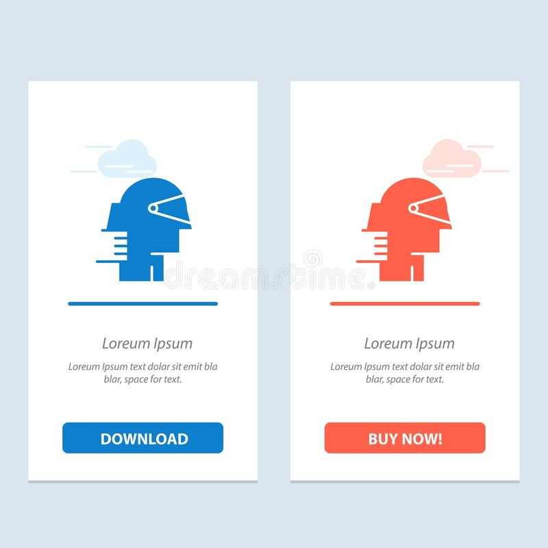 Biznes, lider, ścieżka, dostawca sieci Widget karty szablon, Przedni, i ściągania i zakupu Teraz ilustracji