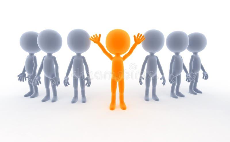 biznes lider drużyn jego ludzie ilustracja wektor