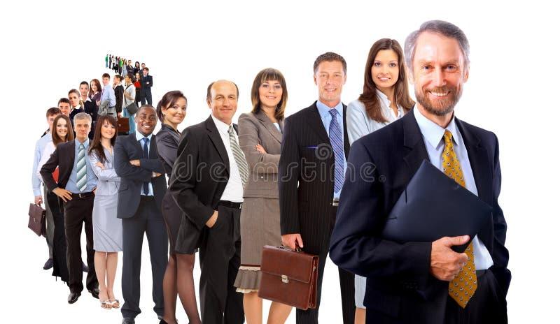 biznes mężczyzna jego drużyna zdjęcie stock