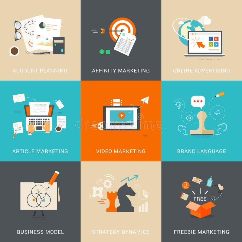 Biznes & Marketingowi pojęcia dla Obrachunkowego planowania royalty ilustracja