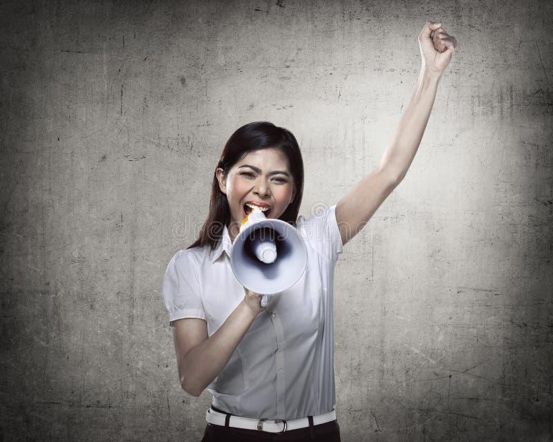 biznes megafon użyć kobiet obraz royalty free