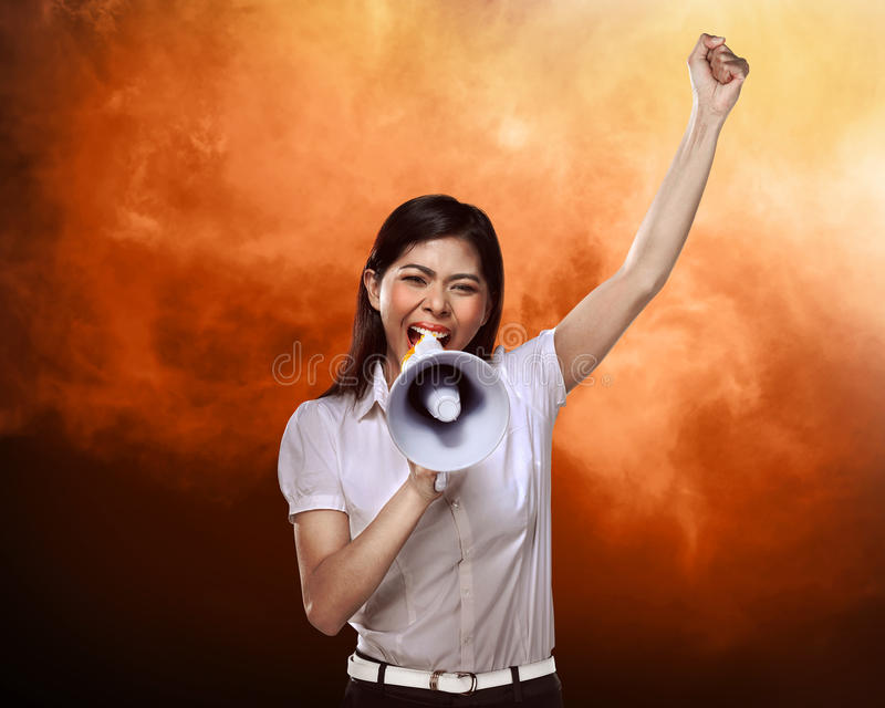 biznes megafon użyć kobiet zdjęcie stock