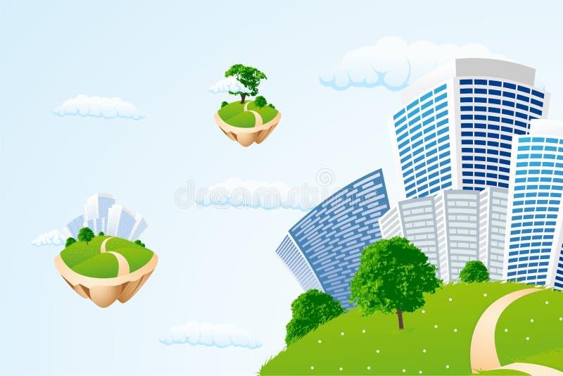 biznes miasta sky royalty ilustracja
