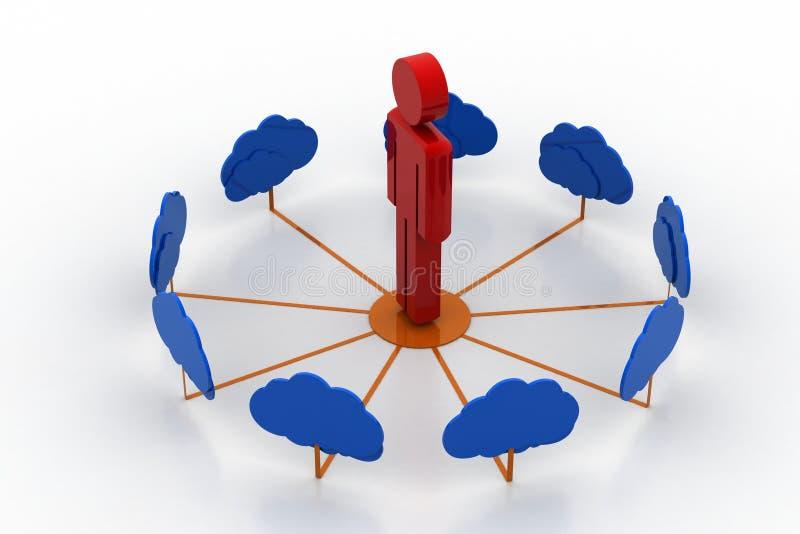 Biznes obłoczna sieć ilustracja wektor