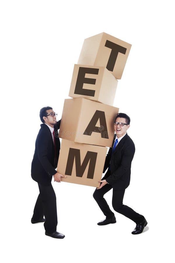 biznes odizolowywający drużynowy biel fotografia royalty free