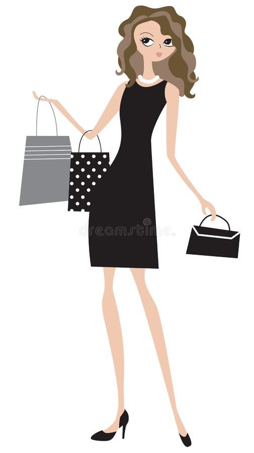 biznes pani zakupy royalty ilustracja