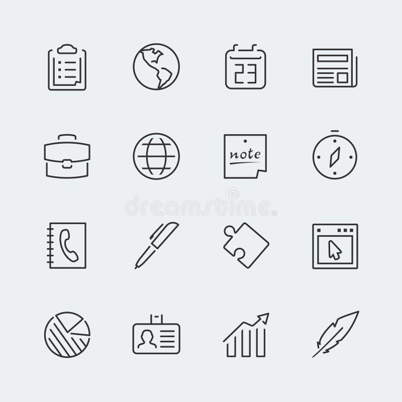 Biznes powiązane wektorowe ikony ilustracja wektor