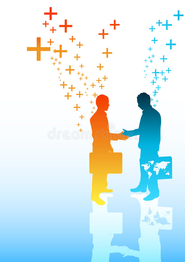 biznes pozytywnie royalty ilustracja