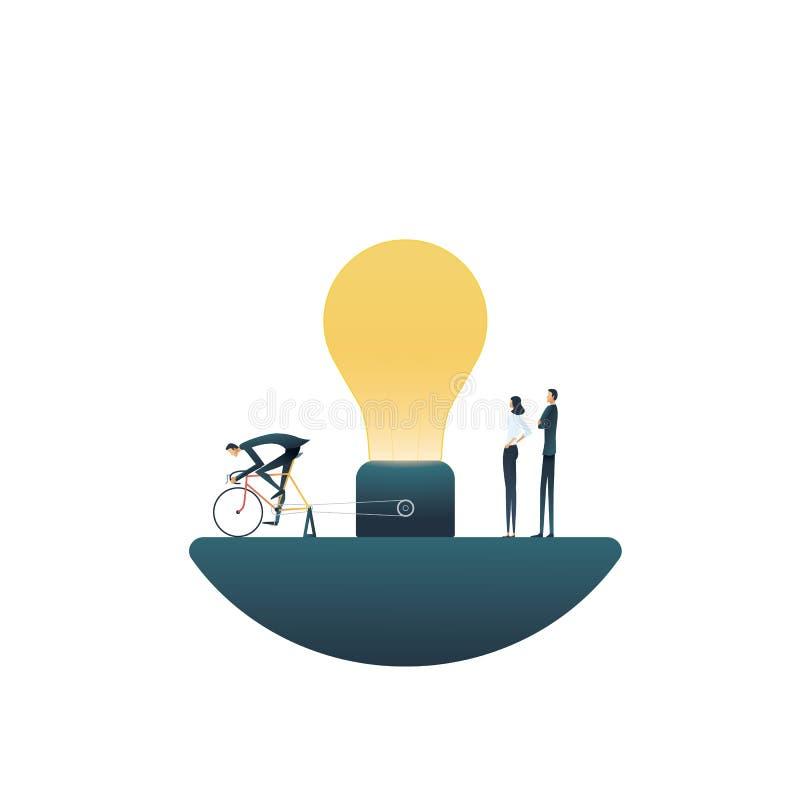 Biznes pracy zespołowej wektoru drużynowy kreatywnie pojęcie Symbol twórczość, brainstorming, oryginalni rozwiązania, wymyślenia  royalty ilustracja