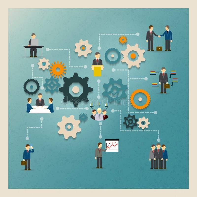 Biznes przygotowywa infographics ilustracji