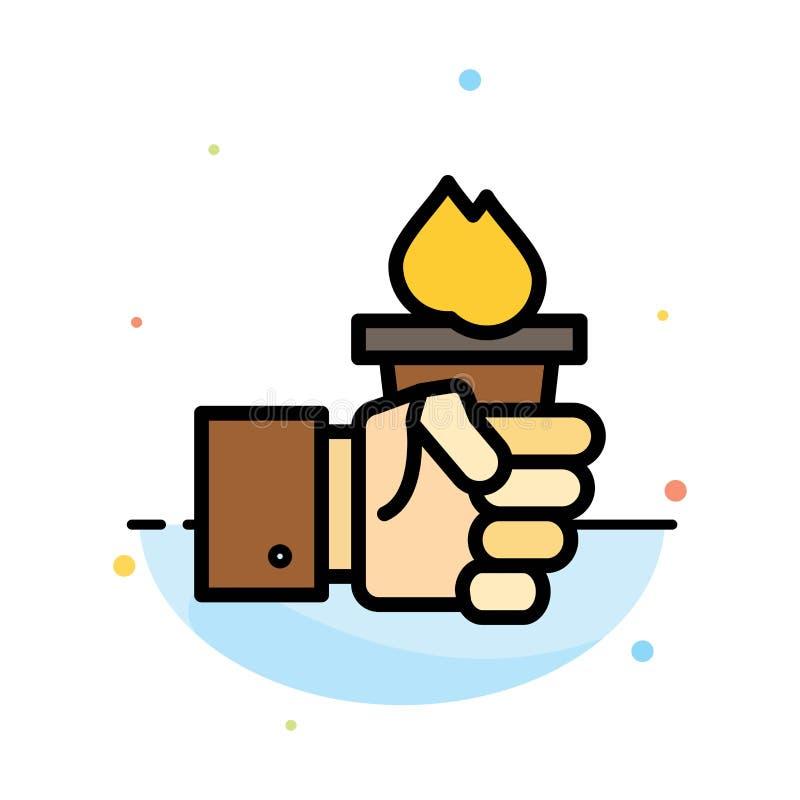 Biznes, ręka, lider, przywódctwo, Olimpijski Abstrakcjonistyczny Płaski kolor ikony szablon ilustracja wektor