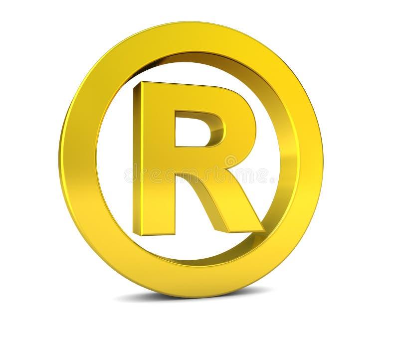 Biznes Rejestrujący znaka firmowego znak royalty ilustracja