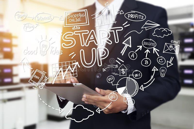 Biznes, rozpoczęcie, prezentacja, strategia i ludzie pojęć, zdjęcie stock