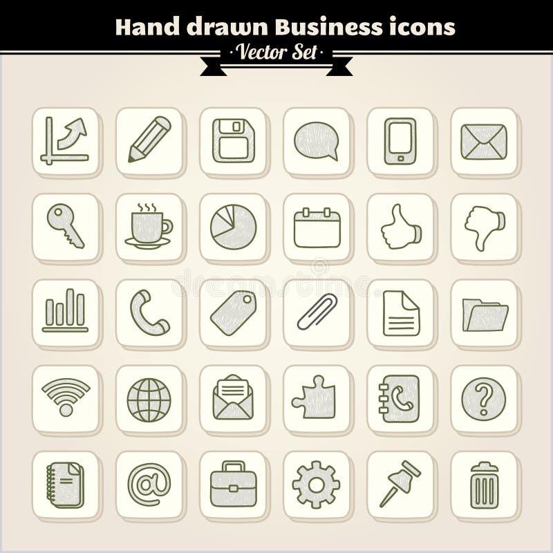 biznes rysować ręki ikony ilustracja wektor