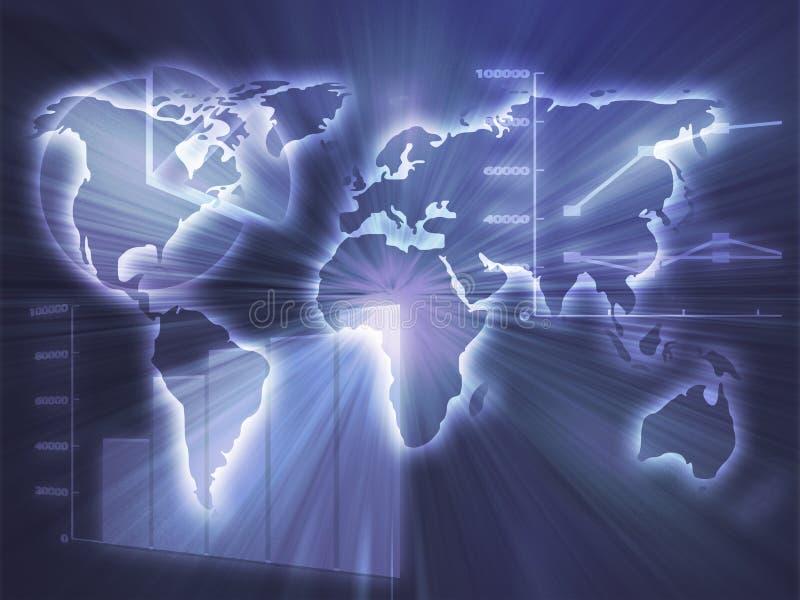 biznes sporządzać mapę spreadsheet ilustracja wektor