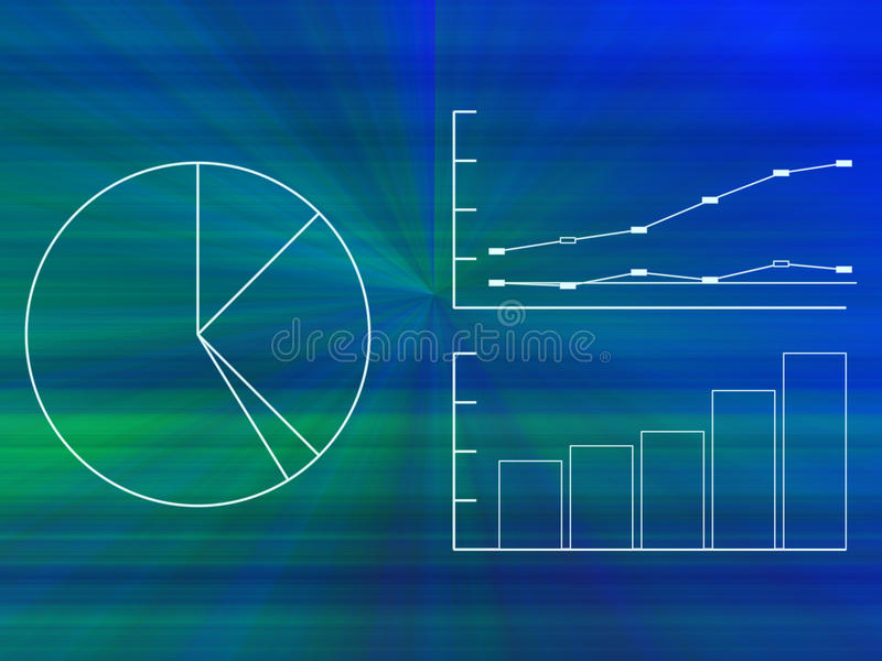 biznes sporządzać mapę wykresy ilustracji