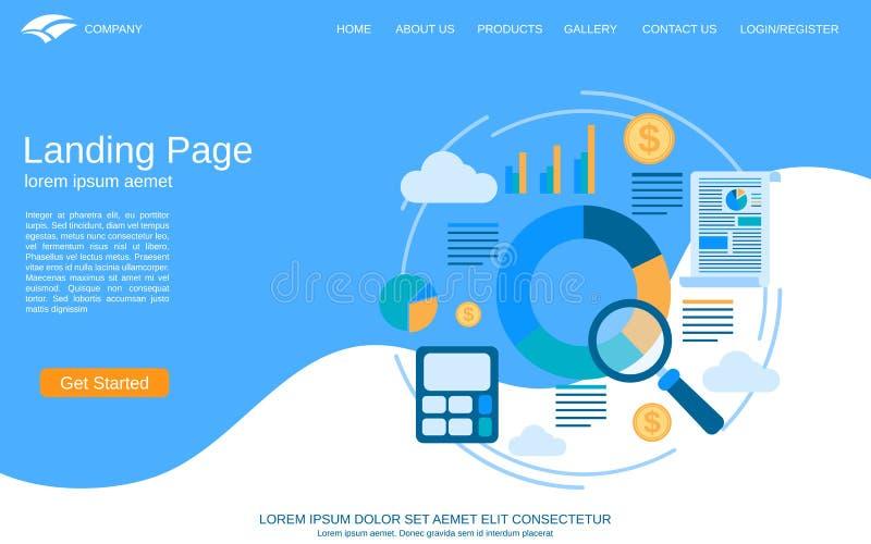 Biznes strony internetowej lądowania strony wektoru stylowy szablon ilustracja wektor