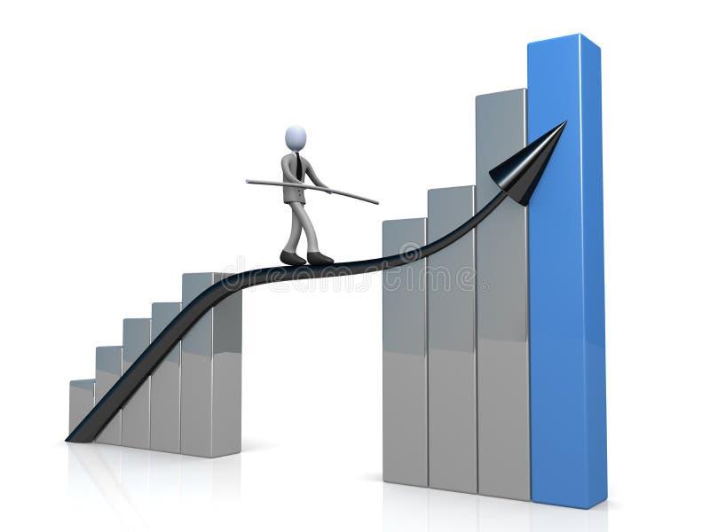 biznes sukces ilustracji