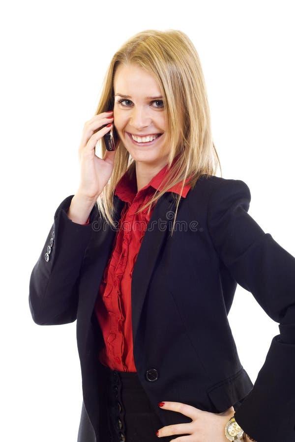 biznes target719_0_ komórkowego telefonu kobiety potomstwa fotografia stock