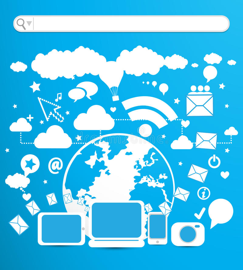 Biznes technologia ilustracja wektor