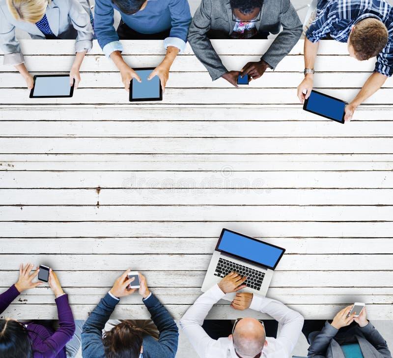 Biznes technologii networking Drużynowy Podłączeniowy pojęcie zdjęcie stock
